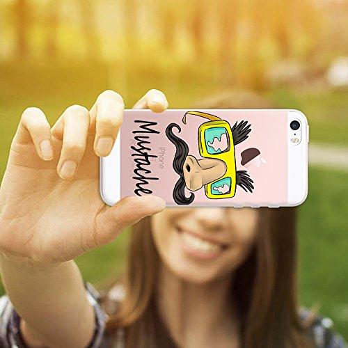 iPhone SE iPhone 5 5S Hülle, WoowCase® [ Hybrid ] Handyhülle PC + Silikon für [ iPhone SE iPhone 5 5S ] Wolf-Fußabdruck Sammlung Tierentwürfe Handytasche Handy Cover Case Schutzhülle - Transparent Hybrid Hülle iPhone SE iPhone 5 5S H0003