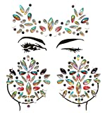 Aufkleber für den Schmuck mit Edelsteinen für das Gesicht Tattoo Aufkleber für die Brust, temporäre Aufkleber für Tattoos mit Glitzersteinchen Body Rave für die Dekoration von Musik blx01+11