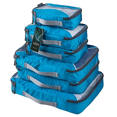 G4Free Packing Cubes Value Set for Travel - 6pcs (B-Blue)