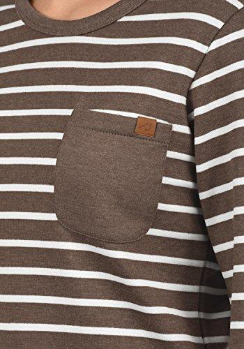 Blend She Christin Damen Sweatshirt Pullover Sweater Mit Rundhalsausschnitt Und Fleece-Innenseite, Größe:XS, Farbe:Mocca Mix (70816) - 4