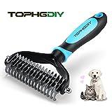 TOPHGDIY Cepillo para Perro Gato Mascota Peine para Desenredar Nudos Pelo Muerto Masaje Baño de Cepillo Azul