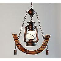 American Village Kerosin Lampe Kronleuchter Kreative Bambus Licht Antique  Western Restaurant Cafe Bambus Old Style Laterne