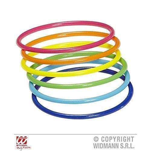 Lively Moments Kostümzubehör / Schmuck 80er / 80 er Jahre Multicolor Armreifen - 18er Set ( Regenbogen )