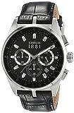 Cerruti 1881 - CRA089A222G - Montre Homme - Quartz - Analogique - Chronomètre - Bracelet Cuir Noir