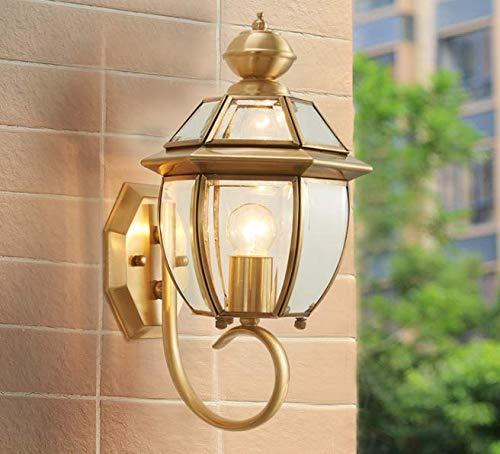 HANJIANJI Wandleuchten außenbeleuchtung Kupfer Wasserdichten terrasse korridor - außenwand leuchten die Tore der Villa Hof