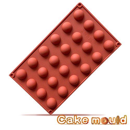 Fantasyday stampo in silicone con 24 cavità per cubetti di ghiaccio, biscotti, tortini, cioccolato, dolci - palla rotonda