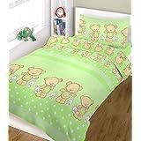 Blueberry Shop Ensemble de linge de lit pour lit de bébé comprenant une housse de couette et une taie d'oreiller 120x150cm
