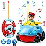 Ferngesteuerte Autos Rennwagen, Muscccm RC Auto Fernlenkflitzer ferngesteuertes Spielzeug für Kinder Baby Boy Girl als Weihnachtsgeburtstagsgeschenk, blau