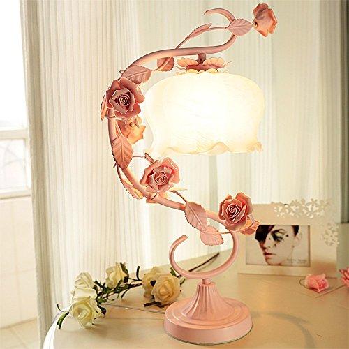 Symbol-schal (XCJjJ Cailin, pastoralen Stil Schmiedeeisen Blume Prinzessin Hochzeitszimmer romantische Zimmer Tischlampe Schlafzimmer Nachttischlampe, 2 Arten von Stilen, 2 Arten von Schalter wählbar,1-Tasten-Schal)