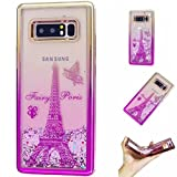 TAITOU Galaxy S7 Shell, Glitter Flowing Floating Love Heart Paillettes Quicksand Slim Cover, Liquid Moving Powder Plated Bumper Light Thin Phone Case For Samsung Galaxy S7 Paris Eiffel Tower