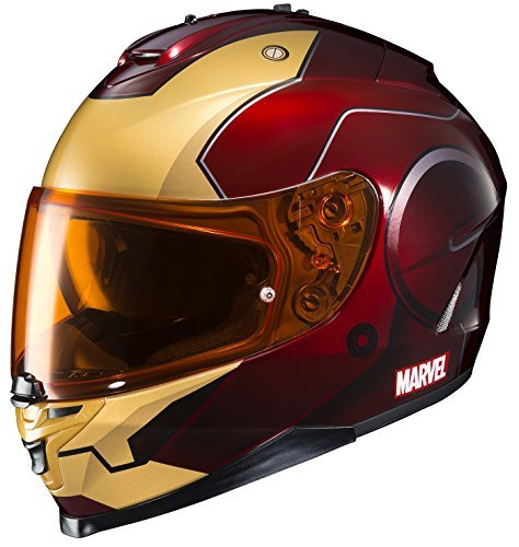 HJC Helmets Marvel IS-17 Unisex-Adult Full Face IRONMAN Street Motorcycle Helmet (Red/Yellow, Large) by HJC Helmets