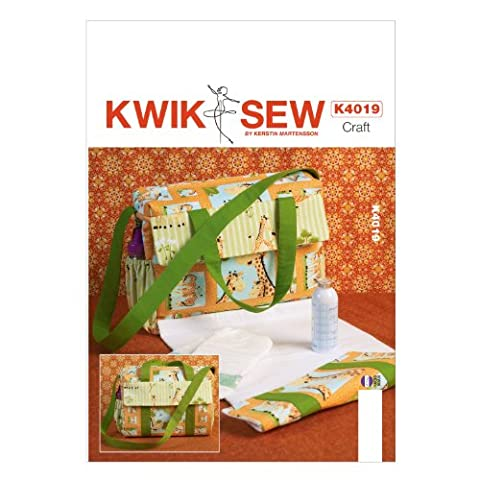 Kwik Sew Patterns K4019 One Size Only Diaper Bag, Multi-Color