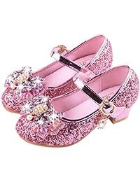 ac4485a52e9 Moonuy Chaussures de Princesse Fille Chaussure de Danse Sandales pour  Latines Tango Jazz Chaussures de Pratique