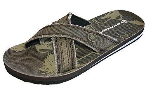 Dunlop Claquettes pour homme Pointure 39,5-46 marron foncé