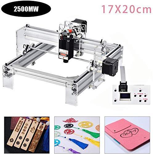 4YANG Máquina de bricolaje CNC Router CNC Máquina de corte y grabado en madera Logotipo de bricolaje Kits grabador láser CNC (17x20cm 2500mW)