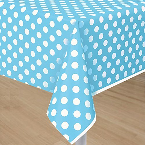 My Party Suppliers Blue Polka Dot Plastic Table Cloth / Party Table Cover /, Party Supplies , Theme Birthday Party , Kids Party Supplies , Table Covers , Table Cloth (Light Pink)