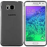 Samsung Galaxy Alpha Hülle in Schwarz - Silikonhülle Case Schutzhülle Tasche für Samsung Alpha (Rutschfest)