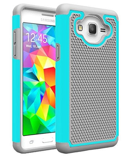 Galaxy ON5Fall, Galaxy G550Fall, MCUK [Stoßdämpfung] Drop Schutz Hybrid-Dual-Layer Defender Schutzhülle für Samsung Galaxy ON5/G550, Gray+Mint