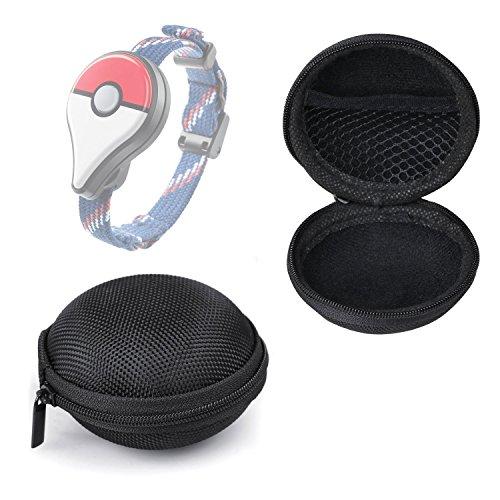 Preisvergleich Produktbild Bestdeal® Tragbare Mini Zipper Schutztasche Hülle Tasche für Pokémon GO Plus (Schwarz)