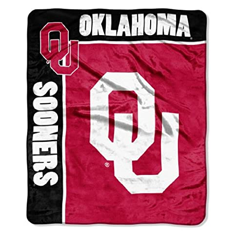 NCAA Oklahoma Sooners 50-Inch-by-60-Inch Raschel Plush Throw
