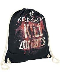 Keep Calm And Kill Zombies Bolsa de Deporte Negro