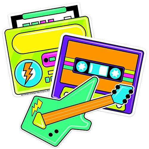 Jahre Boombox Papier Ausstanzung Klassenzimmer Dekoration für Lehrer, 14 cm B x 14 cm H ()