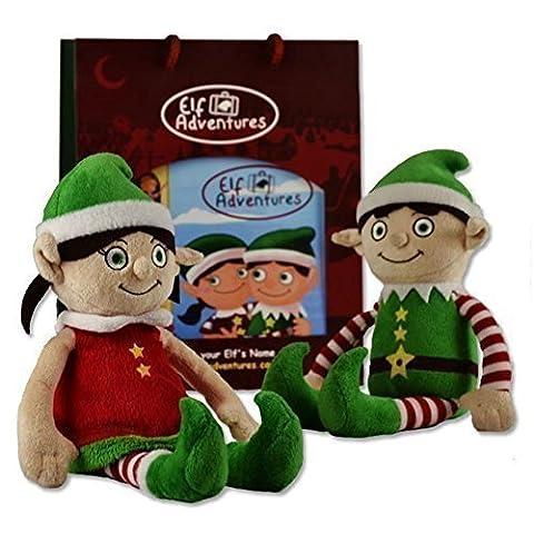 Elf Adventures Boy & Girl Elf Soft Toy Toddler Set