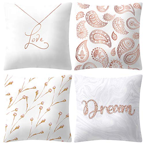 2019 nuovo moda bella rosa oro rosa cuscino quadrato 18 × 18 pollici federa divano letto casa decoratio by wudube