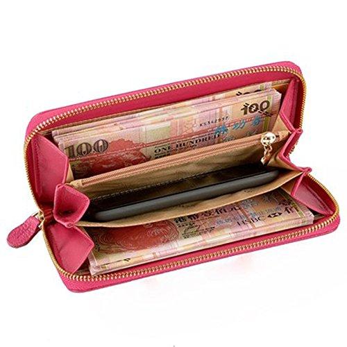 s borse 'lunghe delle donne del raccoglitore delle donne cerniera bollette portafoglio cartella portafoglio frizione ( colore : Arancia ) Rosso