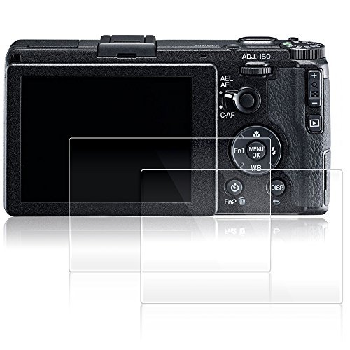 AFUNTA Displayschutzfolien für Ricoh GR II, 2 Pack Anti-Kratzer gehärtetes Glas Schutzfolien für DSLR Digitalkamera