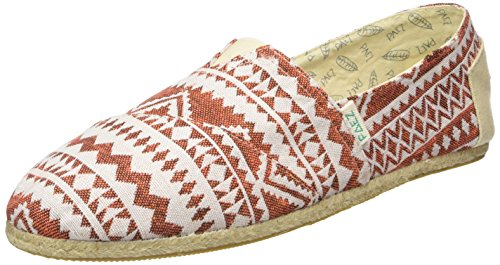 PaezOriginal Raw Ethnic Orange - Espadrillas Unisex - Adulto , Arancione (Orange (Orange 0053)), 43