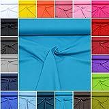 MAGAM-Stoffe ''Micha'' Interlock Jersey Uni | 20 Farben | 100% Baumwolle Öko-Tex Qualität | Meterware ab 50cm (13. Türkis)