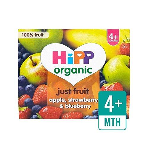 hipp-organico-puramente-frutta-mela-fragola-e-mirtillo-4-x-100-g-confezione-da-2