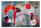 Wassily Kandinsky Poster/Kunstdruck Rond et pointu 100 x 70 cm