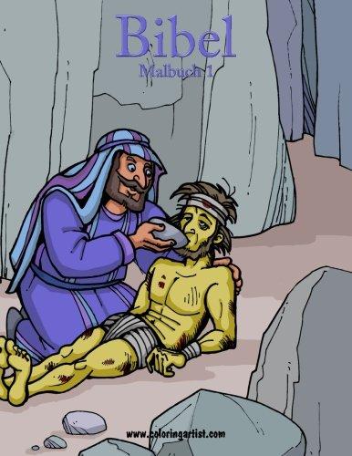 Bibel Malbuch 1: religiöse Malvorlagen vom Alten und Neuen Testament