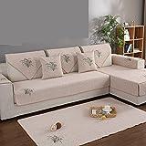 Sofa abdeckungen l Form Couchbezug Rutschfeste Couchbezug,Baumwolle Maschine Waschbar,Sofa-Schild für 1 2 3 4 Sofa-A 90x120cm(35x47inch)
