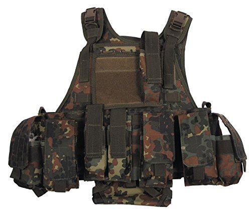 """Weste, """"Ranger"""" diverse Taschen, flecktarn, Modular System"""