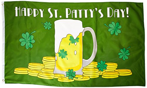 appy St. Patty's Day Polyester-Flagge, 91 x 152 cm ()