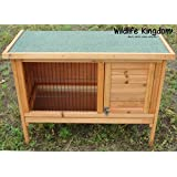 Wildlife Kingdom 1001 Wooden Rabbit Hutch 3FT Guinea Pig Pet Ferret Coop Outdoor House with Opening Roof & Pullout Tray