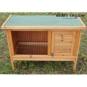 Wildlife Königreich 1001Kleintierstall aus Holz 3FT Guinea Pig Pet Frettchen Coop Outdoor House mit Öffnung Dach & Tablett sowie einen