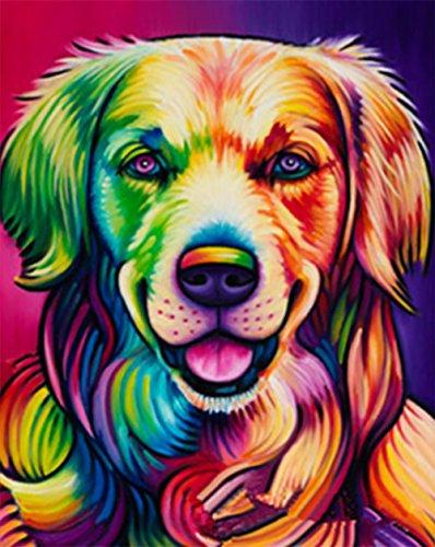 5d diamant malerei kit diy strass stickerei kreuzstich künste handwerk für hause wand-dekor 9,8 * 11,8 zoll (25 * 30 cm) farbigen hund