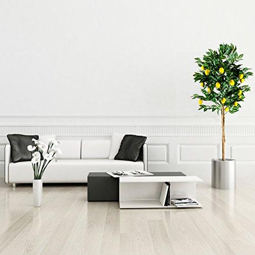 Zitronenbaum Kunstpflanze mit Echtholzstamm und Zitronen Kunstbaum – 184 cm groß - 3