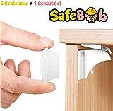 SafeBob Magnetische Kinder-Sicherung für Schubladen und Schranktüren - ohne Bohren