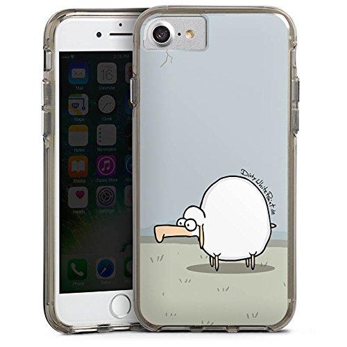 Apple iPhone X Silikon Hülle Case Schutzhülle DirtyWhitePaint Fanartikel Merchandise Günther das Schaf Bumper Case transparent grau