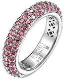 ESPRIT Collection Damen-Ring 925 Sterling Silber rhodiniert Kristall Zirkonia amorbess berry rosa