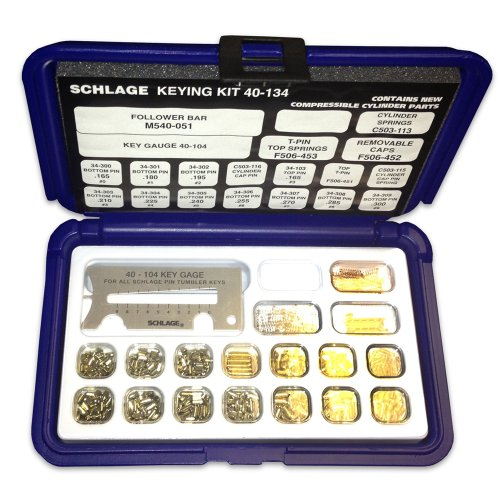 Schlage 40-134-Pin-Kit mit Snap-Tight Kunststoff Box (Pins Rekey Lock)