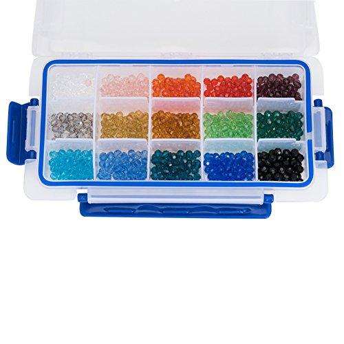 PandaHall Elite 1 caja Cuentas de vidrio, facetas, redondos, color mez