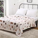 """SUNNY KEY--Mantas para cama @ Vellón de Coral Floral Mezcla de Poliéster y Algodón mantas , w70"""" x l79"""""""