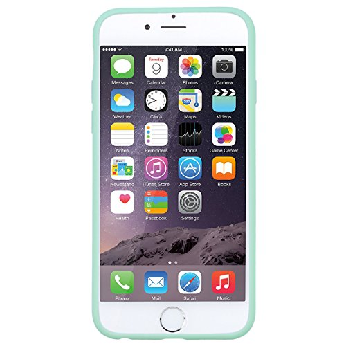 "WE LOVE CASE iPhone 6 / 6s Hülle Candy Series Sonnenblume iPhone 6 / 6s 4,7"" Hülle Gelb Schutzhülle Handyhülle Weich Silikon Handytasche Ultra Dünn Flexibel Cover Case Etui Soft TPU Handy Tasche Schal green"