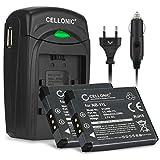 CELLONIC 2X Batterie Compatible avec Canon PowerShot SX420 SX430 SX410 SX400 SX432 A2500 A2300 IXUS 285 180 160 185 175 145 170 130 190 Elph 110 Accu NB-11L -11LH Chargeur CB-2L câble Voiture Secteur